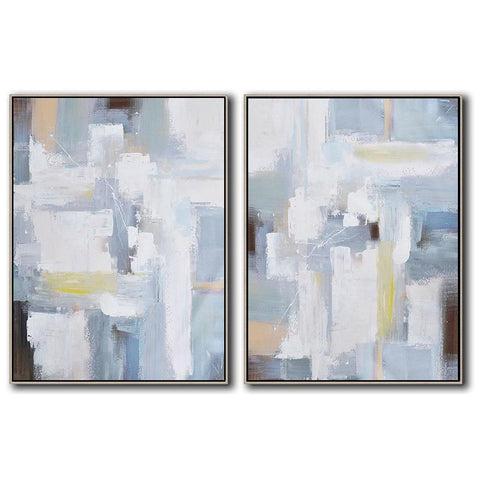 Set of 2 Contemporary Art #S133-Contemporary Art-CZ Art Design(Celine Ziang Art)