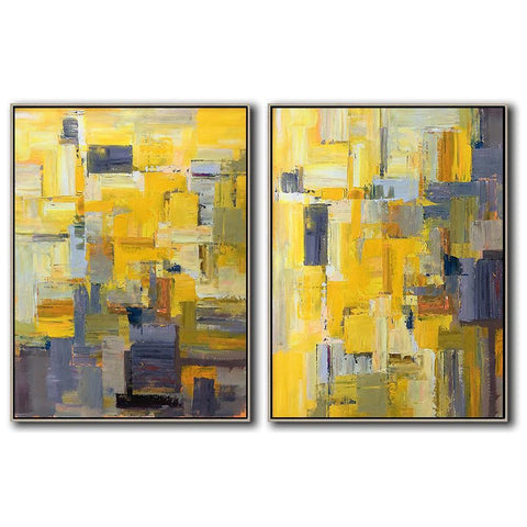 Set of 2 Contemporary Art #S134-Contemporary Art-CZ Art Design(Celine Ziang Art)