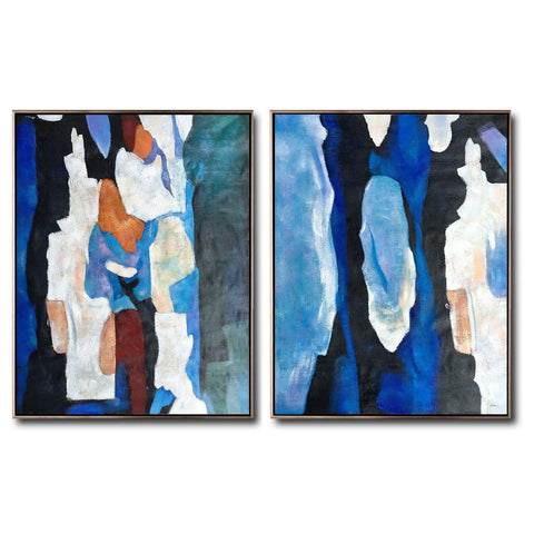 Set of 2 Contemporary Art #S139-Contemporary Art-CZ Art Design(Celine Ziang Art)