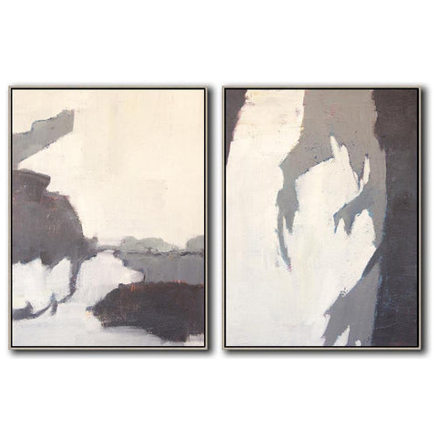 Set of 2 Contemporary Art #S140-Contemporary Art-CZ Art Design(Celine Ziang Art)