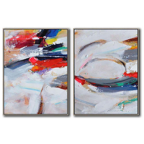 Set of 2 Contemporary Art #S96-Contemporary Art-CZ Art Design(Celine Ziang Art)