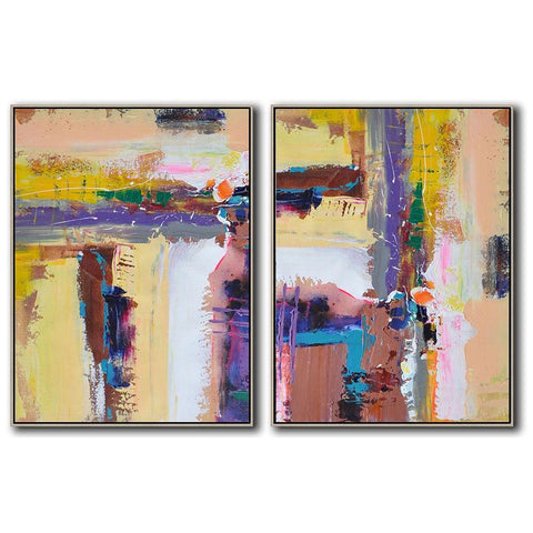 Set of 2 Contemporary Art #S98-Contemporary Art-CZ Art Design(Celine Ziang Art)
