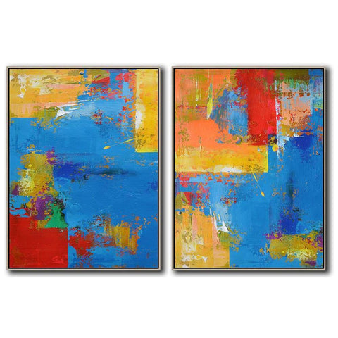 Set of 2 Contemporary Art #S99-Contemporary Art-CZ Art Design(Celine Ziang Art)