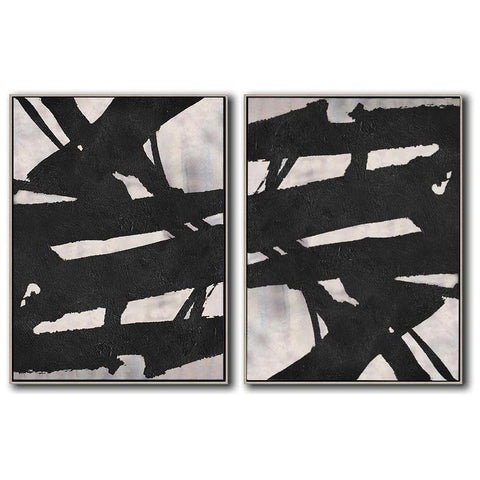 Set of 2 Minimal Art #S153-Minimal Art-CZ Art Design(Celine Ziang Art)