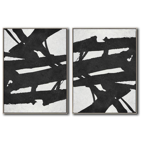 Set of 2 Minimal Art #S154-Minimal Art-CZ Art Design(Celine Ziang Art)