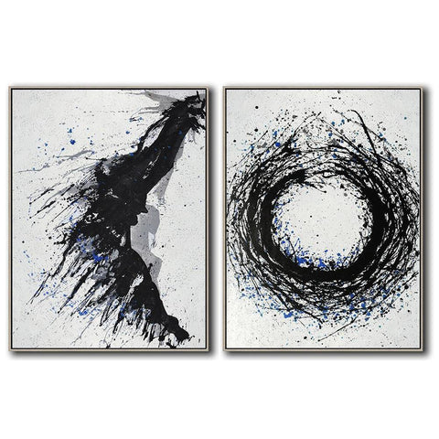 Set of 2 Minimal Art #S161-Minimal Art-CZ Art Design(Celine Ziang Art)