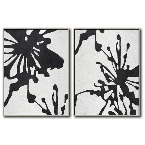 Set of 2 Minimal Art #S18-Minimal Art-CZ Art Design(Celine Ziang Art)