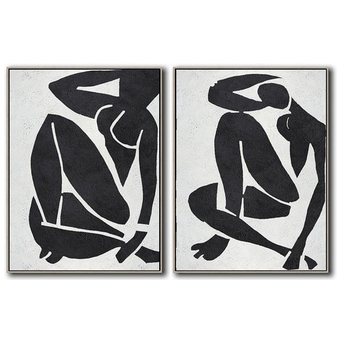 Set of 2 Minimal Art #S20-Minimal Art-CZ Art Design(Celine Ziang Art)