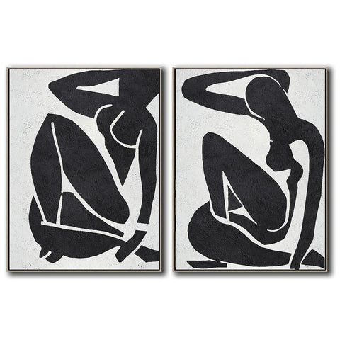 Set of 2 Minimal Art #S21-Minimal Art-CZ Art Design(Celine Ziang Art)