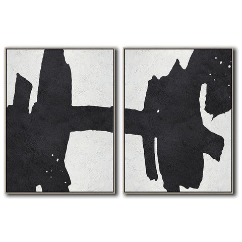 Set of 2 Minimal Art #S44-Minimal Art-CZ Art Design(Celine Ziang Art)