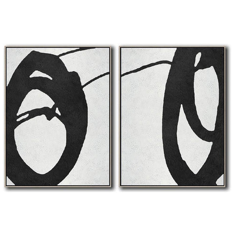 Set of 2 Minimal Art #S49-Minimal Art-CZ Art Design(Celine Ziang Art)