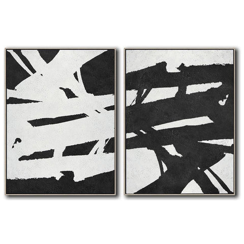 Set of 2 Minimal Art #S55-Minimal Art-CZ Art Design(Celine Ziang Art)