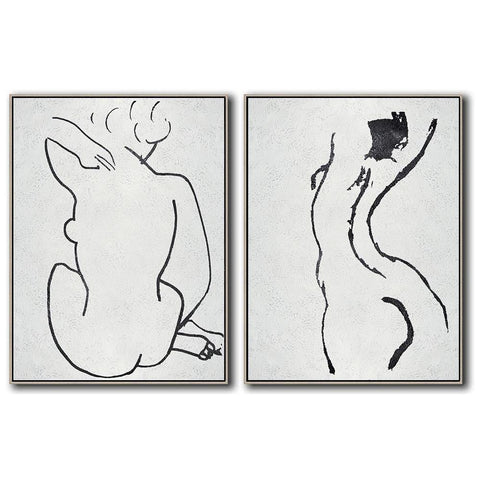 Set of 2 Minimal Art #S60-Minimal Art-CZ Art Design(Celine Ziang Art)