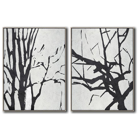 Set of 2 Minimal Art #S75-Minimal Art-CZ Art Design(Celine Ziang Art)