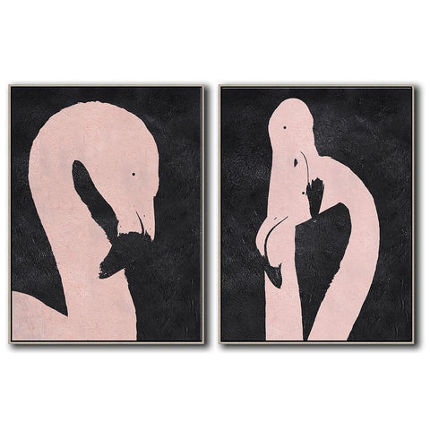 Set of 2 Minimal Art #S79-Minimal Art-CZ Art Design(Celine Ziang Art)