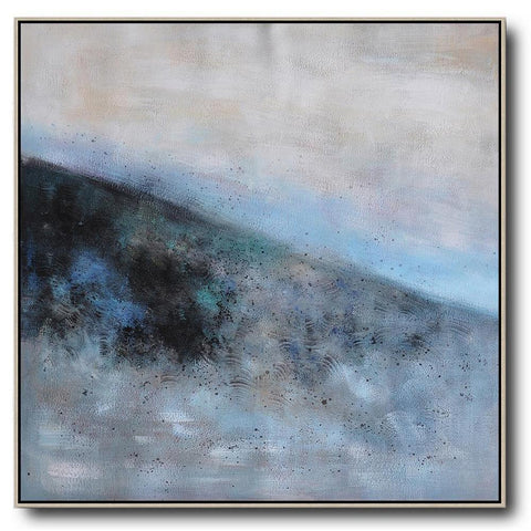 Square Abstract Landscape Painting #X105A-Abstract Art-CZ Art Design(Celine Ziang Art)