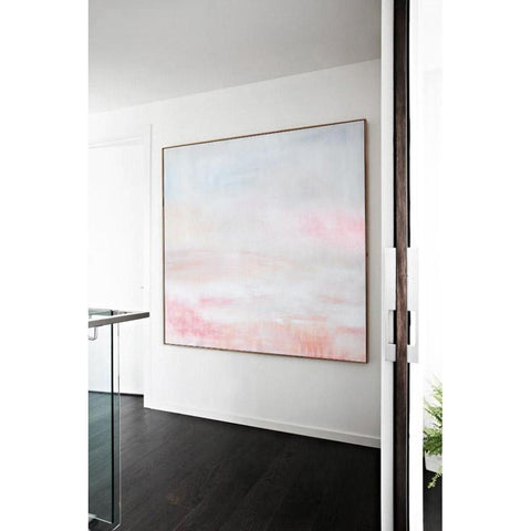 Square Abstract Landscape Painting #X111A-Abstract Art-CZ Art Design(Celine Ziang Art)