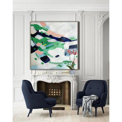 Square Abstract Painting #X3A-Abstract Art-CZ Art Design(Celine Ziang Art)