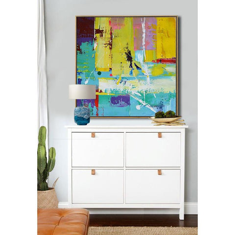 Square Palette Knife Contemporary Art #C3A-Contemporary Art-CZ Art Design(Celine Ziang Art)