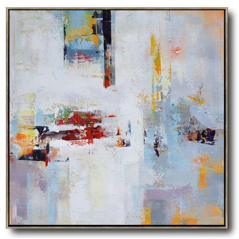 Square Palette Knife Contemporary Art #C5A-Contemporary Art-CZ Art Design(Celine Ziang Art)