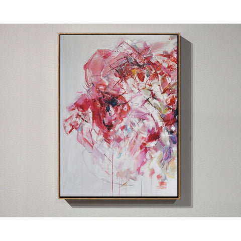 Vertical Abstract Flower Oil Painting #LX76B-Abstract Art-CZ Art Design(Celine Ziang Art)