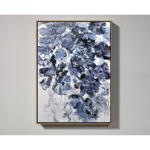Vertical Abstract Flower Oil Painting #LX79B-Abstract Art-CZ Art Design(Celine Ziang Art)