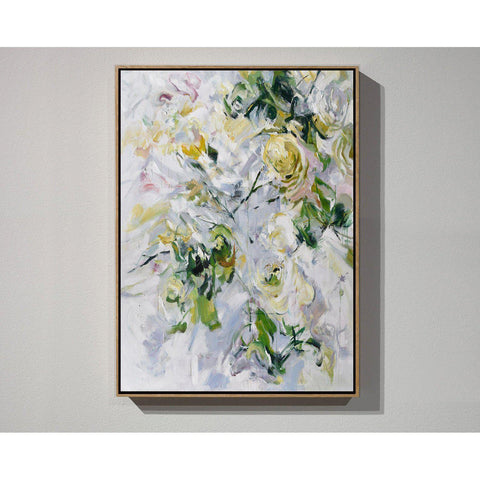Vertical Abstract Flower Oil Painting #LX82B-Abstract Art-CZ Art Design(Celine Ziang Art)
