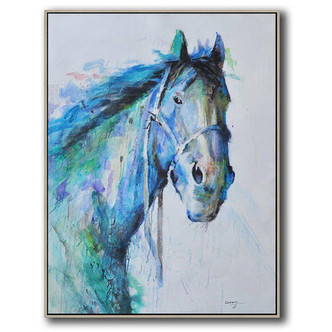 Vertical Abstract Horse Art #LX59B-Abstract Art-CZ Art Design(Celine Ziang Art)