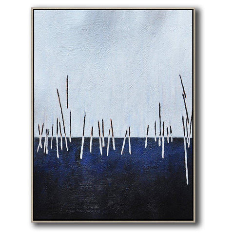 Vertical Abstract Landscape Art #DH17B-Abstract Art-CZ Art Design(Celine Ziang Art)
