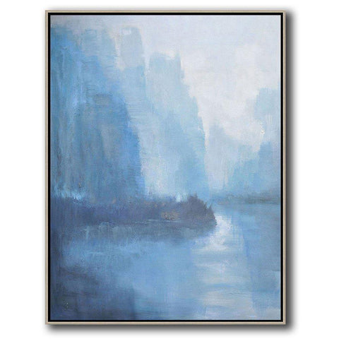 Vertical Abstract landscape Art #LX20B-Abstract Art-CZ Art Design(Celine Ziang Art)