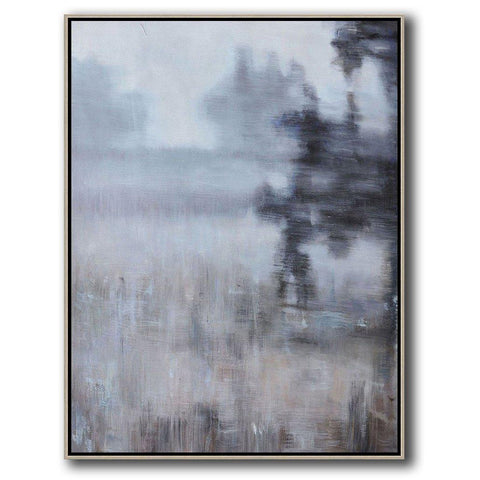 Vertical Abstract landscape Art #LX21B-Abstract Art-CZ Art Design(Celine Ziang Art)