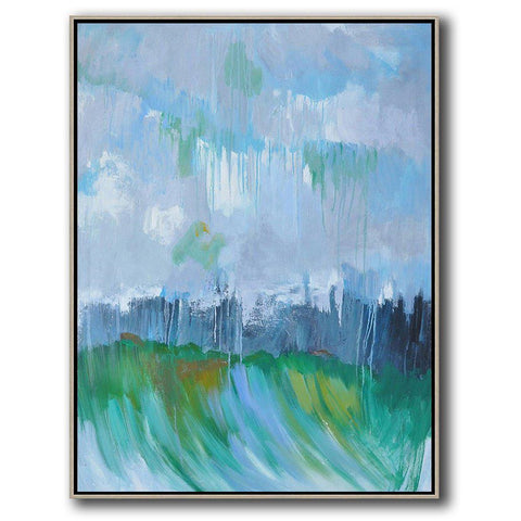 Vertical Abstract landscape Art #LX24B-Abstract Art-CZ Art Design(Celine Ziang Art)