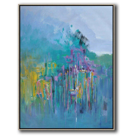 Vertical Abstract landscape Art #LX28B-Abstract Art-CZ Art Design(Celine Ziang Art)