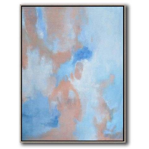 Vertical Abstract landscape Art #LX31B-Abstract Art-CZ Art Design(Celine Ziang Art)