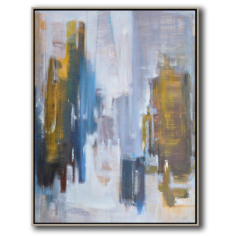 Vertical Abstract landscape Art #LX32B-Abstract Art-CZ Art Design(Celine Ziang Art)