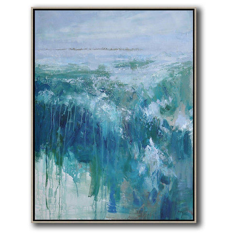 Vertical Abstract landscape Art #LX41B-Abstract Art-CZ Art Design(Celine Ziang Art)