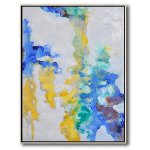 Vertical Abstract landscape Art #LX44B-Abstract Art-CZ Art Design(Celine Ziang Art)