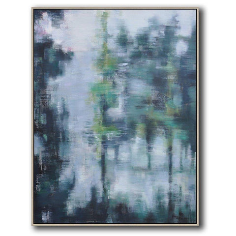 Vertical Abstract landscape Art #LX60B-Abstract Art-CZ Art Design(Celine Ziang Art)