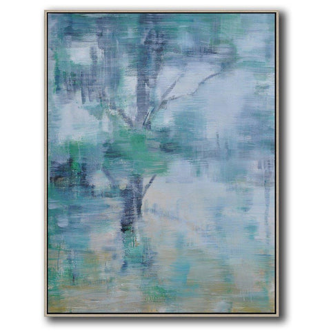 Vertical Abstract landscape Art #LX61B-Abstract Art-CZ Art Design(Celine Ziang Art)
