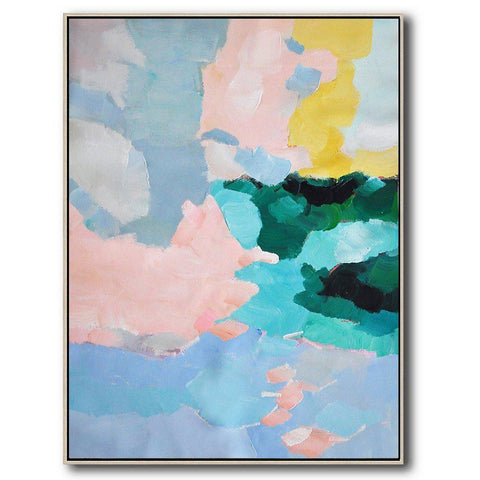 Vertical Abstract Landscape Art #X96B-Abstract Art-CZ Art Design(Celine Ziang Art)