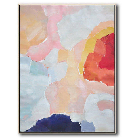 Vertical Abstract Landscape Art #X97B-Abstract Art-CZ Art Design(Celine Ziang Art)