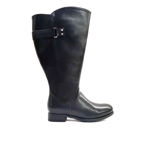 Capitola Black Extra Wide Calf Riding Boot