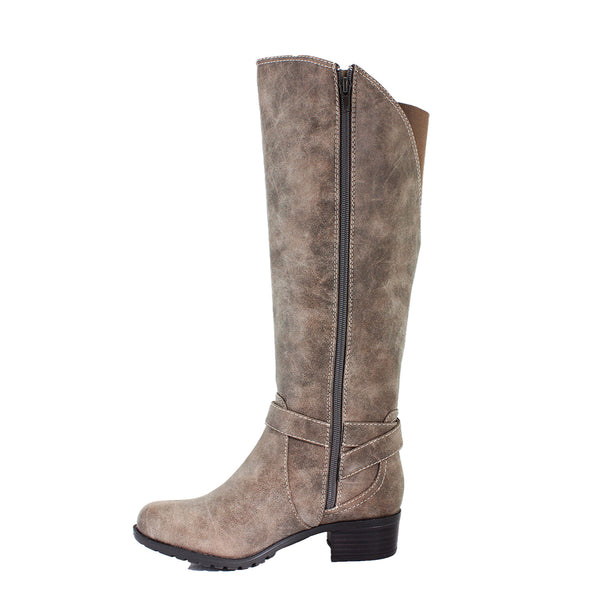 Westport Vintage Stone Extra Wide Calf Riding Boot