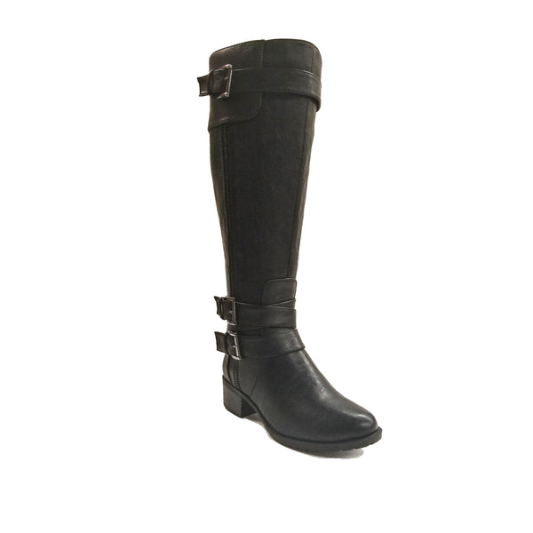 Intaglia Monaco Black Wide Calf Riding Boot