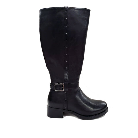 Vellejo Black Wide Calf Riding Boot