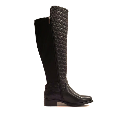 Colusa Black Over The Knee Wide Calf Riding Boot