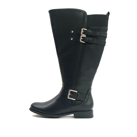 Bernadino Black Extra Wide Calf Riding Boot
