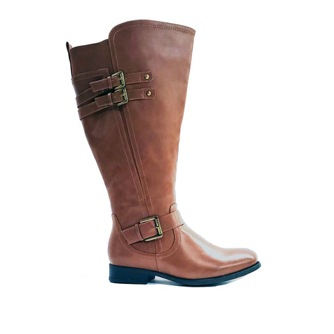Brentwood Brown Wide Calf Riding Boot