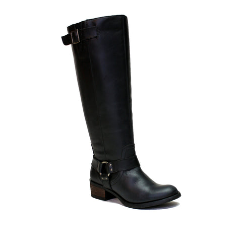 Alamo Black Extra Wide Calf Riding Boot