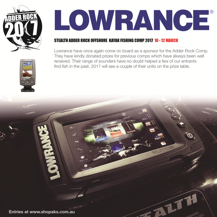 Lowrance are a Sponsor of Adder Rock 2017